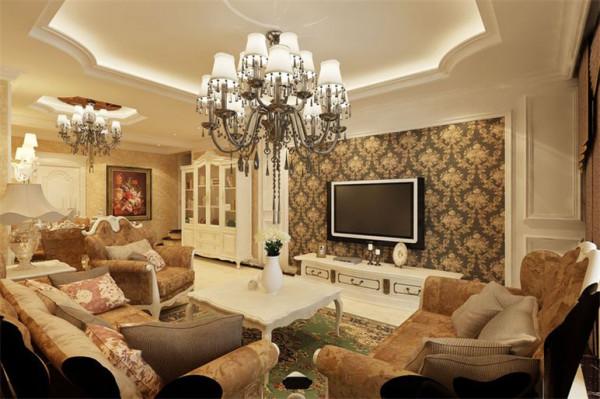 福星惠誉水岸国际136平三居室装修设计