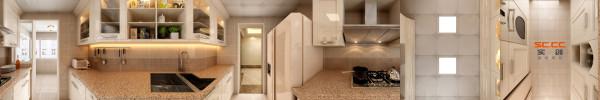 南城都汇138平米欧式风格厨房装修设计
