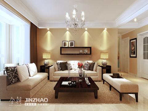 沙发背景墙:黑色的长方形墙饰恰倒好的把墙体装饰了,既不显得空洞也不显得多余。色彩比例根式层次分明。