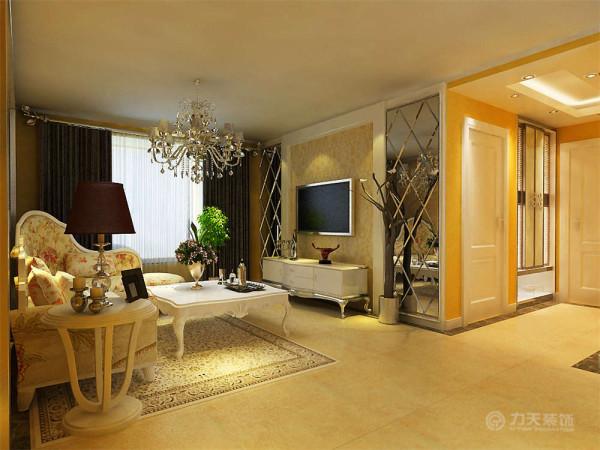 以亮白色家具为主,搭配少量五颜六色的家具,给人大气,眼前一亮又不失温暖舒适的感觉,特别彰显业主品味。客厅与餐厅是整个在一个空间的格局。