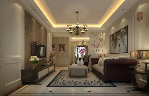 """客厅整体整体设计,虽没有欧式的富丽堂皇,却处处展现的都是""""低调奢华""""的感觉。"""