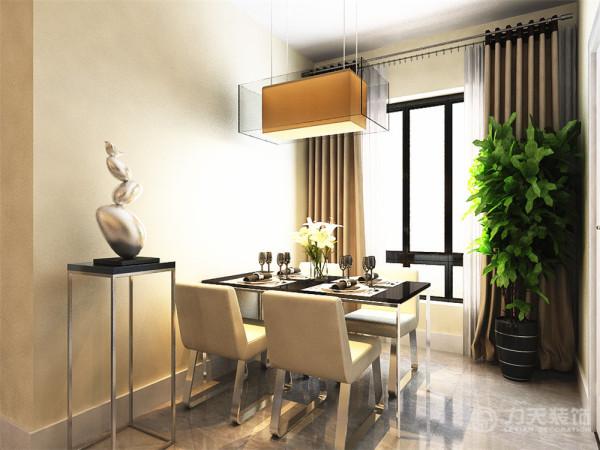 餐厅和沙发背景墙墙面采用黑镜作为装饰,此户型的一个设计亮点是壁纸的设计,由于整体颜色单一整个客厅满铺具有跳跃式的壁纸