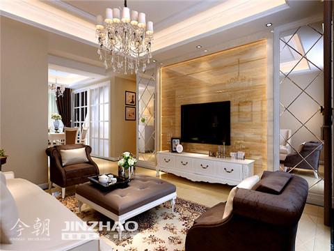客厅:从客厅的侧面看,漂亮的圆形吊灯,简洁大方的设计,把客厅装饰的时尚大气儿整洁。