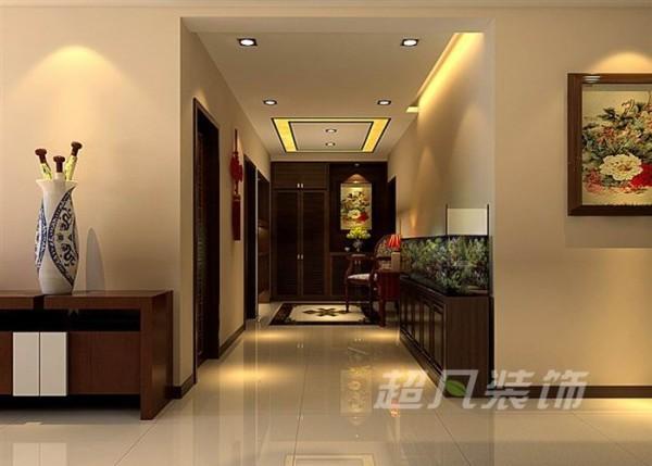 中央特区135平中式风格装修设计-玄关效果图