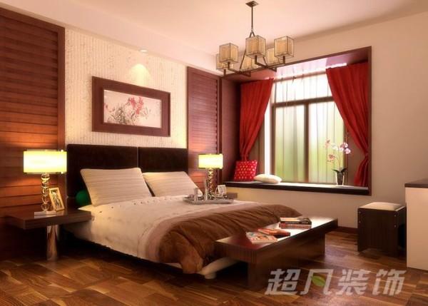 中央特区135平中式风格装修设计-优雅的卧室效果图