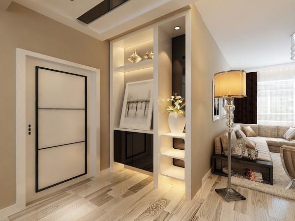 玄关部分黑白对比强烈,更加凸显了后现代的设计风格。