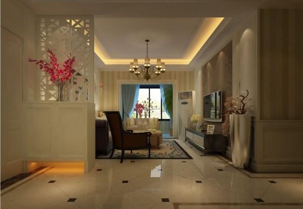 客厅的隔断设计,既起到了很好的隔断作用,又增加了美观。