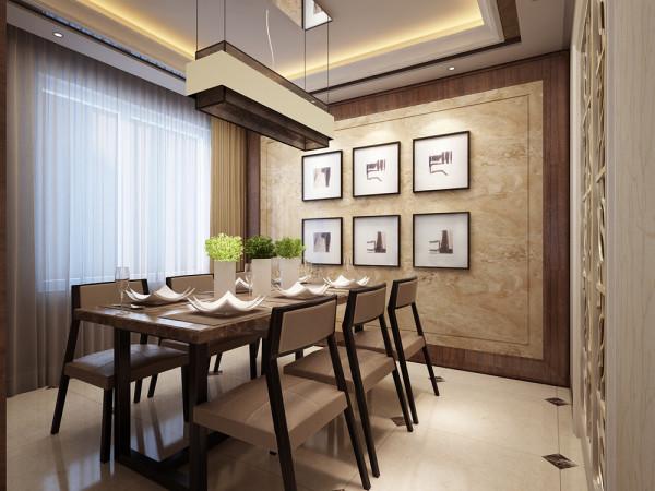 现代中式的餐厅一般是敞开的,同时需要有一个能使一家人同时进餐的空间,还要具备功能强大又简单耐用的厨具设备,在装饰上也有很多讲究,如喜好仿古面的墙砖、橱具门板喜好用实木门扇或是深色模压门扇仿木纹色。