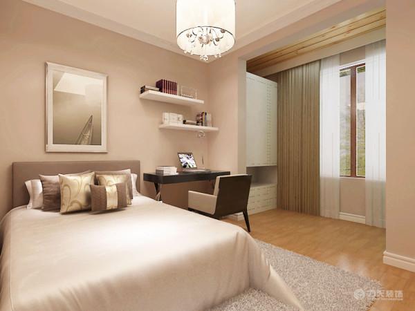 充分利用空间的每一个角落,增加其储物功能。由于卧室面积还算比较大,所以在后期的设计上,作为具有充分储物功能的空间。