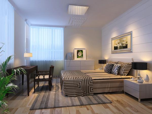 西城山水居-简约风格-两居室-卧室装修效果图
