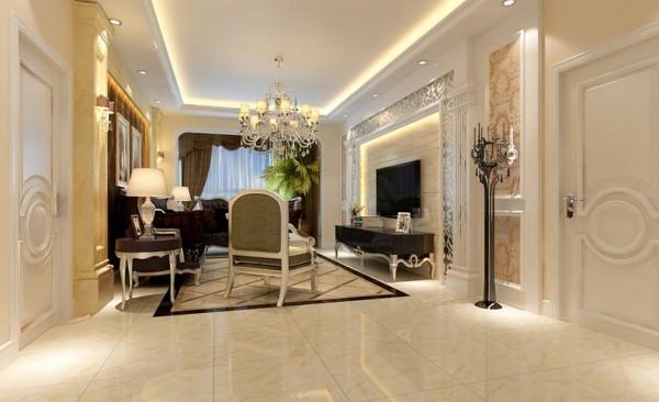 融科天城119平三居室装修设计--13万打造现代欧式温馨家