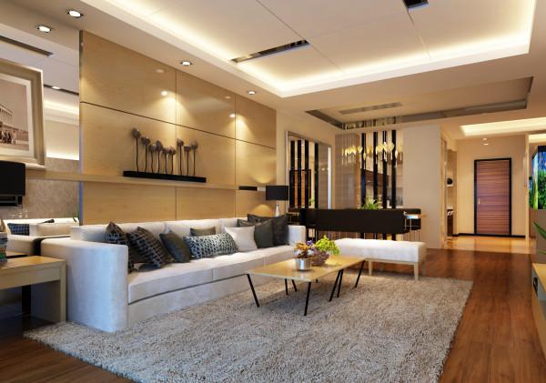 【成都实创装饰】君汇上品 147平米E户型 四居 简欧风格 装修参考—整体家装—客厅装修效果图