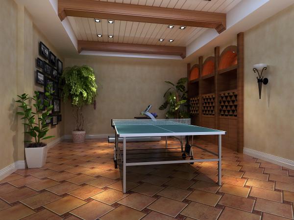 中天御园 200平米 托斯卡纳风格 休闲区域设计
