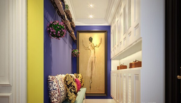 案的家居风格不同于以往的地中海,与蓝色搭配共同缔造地中海式浪漫的