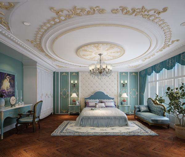 尚层装饰  康城 430平米 法式风格 主卧设计