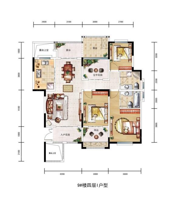 自然的归属民安北郡三居室简约风格装修设计效果图优雅安静的生活品质民安北郡户型图