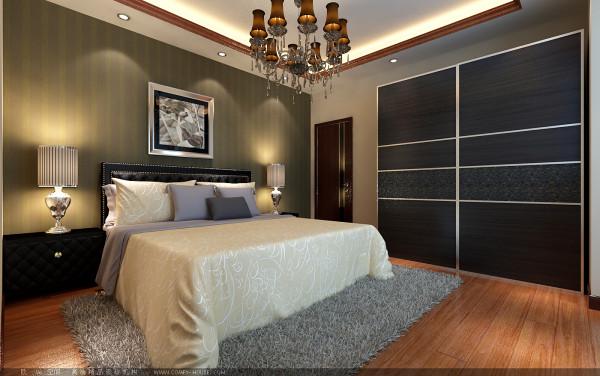 【成都实创装饰】100平米 三居 现代简约风格 装修参考—整体家装—卧室装修效果图
