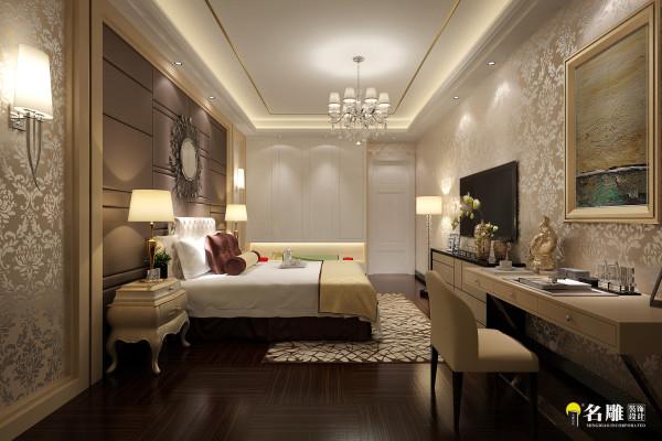 名雕装饰设计—雅居乐现代奢华别墅卧室