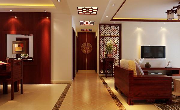 四居新中式客厅餐厅吊顶儿童房老人房其他装修效果_美图片