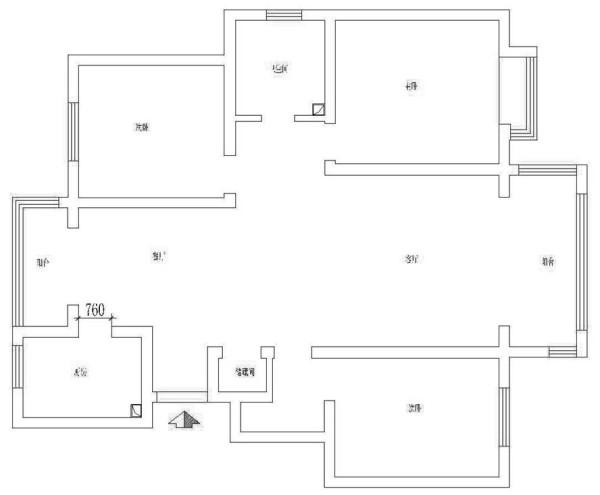 高速翡翠湖畔-现代简约-三居室-户型图