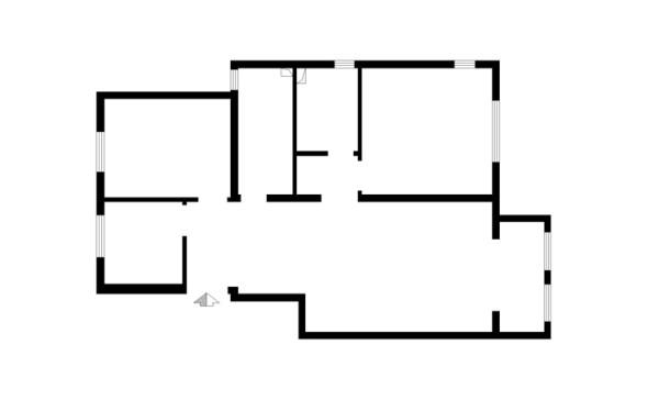 郑州实创装饰-正商蓝海港湾129平三居室-原始户型图