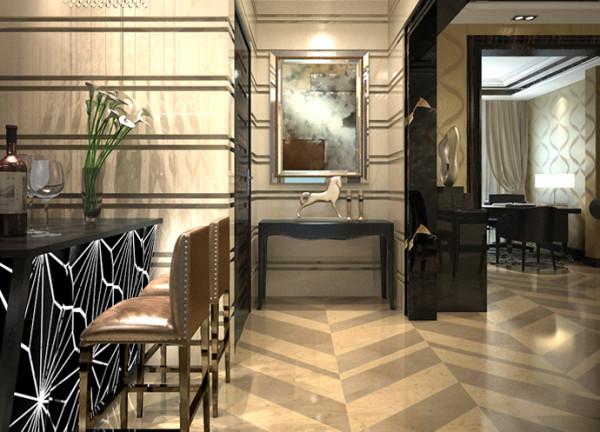 淡暖色的花纹壁纸贯穿了整个空间的色彩基调
