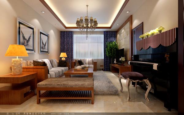 【成都实创装饰】100平米 三居 现代简约风格 装修参考—整体家装—客厅装修效果图