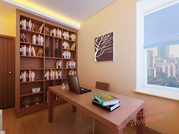 书房:给主人在半面墙都设了书柜,可以任意摆放主人喜爱的书籍。