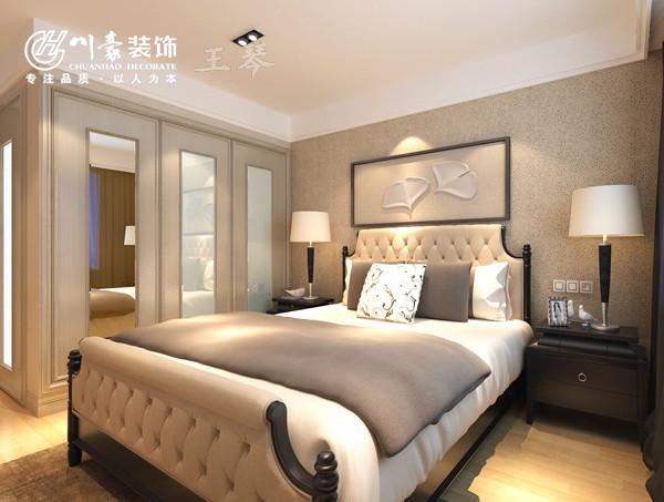天下锦城119㎡现代装修风格卧室效果图