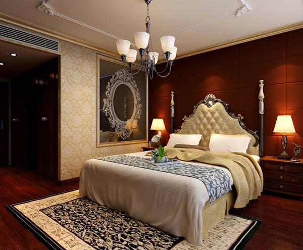 江南上水109平户型卧室效果图
