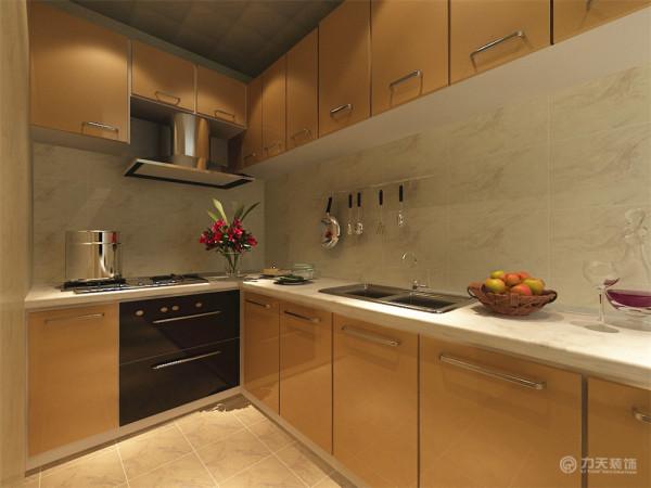 既体现业主的品味,又不缺乏现代简约感的风格。厨房墙面采用地心岩600*300墙砖正铺,橱柜采用香槟色uv烤漆。