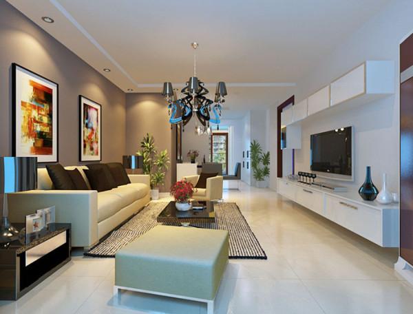 在材质上,选用的是壁纸,玻化地砖,复合实木地板等,衬托家具的颜色。 在家具选配上,该款家具现代简约风格,经典的色系搭配,优雅而含蓄,产 品从设计运用现代的材质及工艺