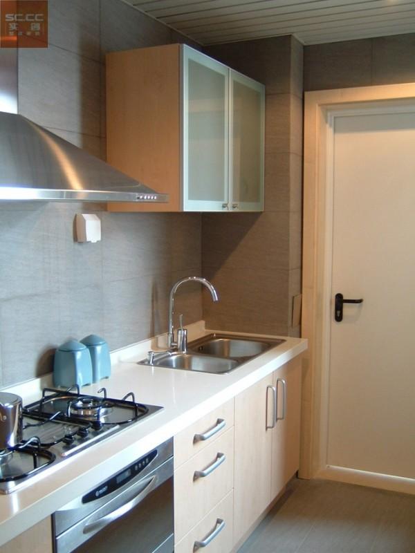 乐城半岛-89平米现代简约装修-厨房效果图
