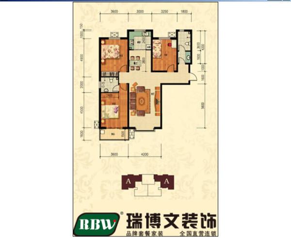 户型的面积比较大,走廊相对较长,但是分区明显