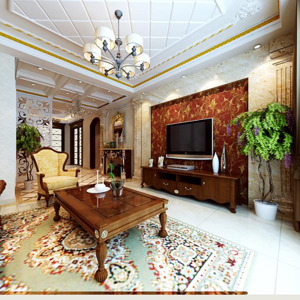 石家庄业之峰装饰-水榭花都130平米三居室欧风雅韵风格装修效果图