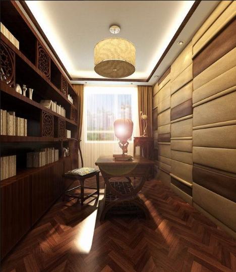 古典韵味中式风格书房装修设计效果图