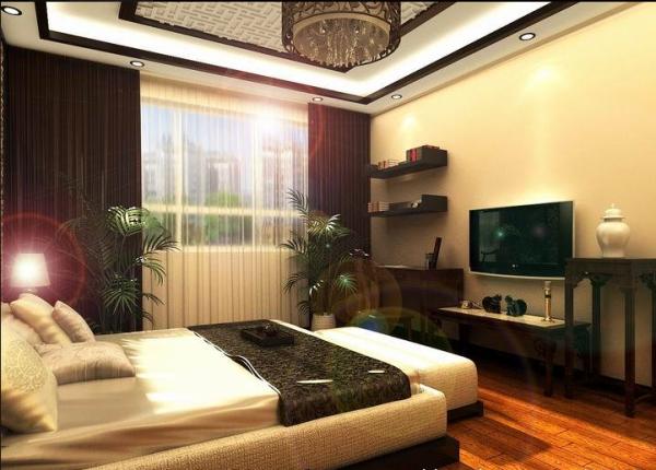 古典韵味中式风格卧室装修设计效果图