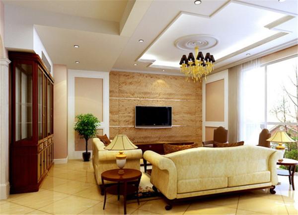 该案业主为三口之家 要求以简欧为主 此户型原结构比较合理 结构上没有变化 客厅与餐厅功能划分比较明显在原结构基础上 通过运用罗马柱 石膏线壁纸等欧式元素