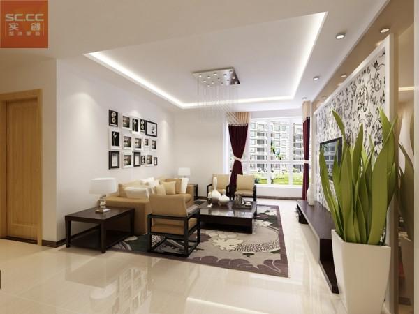 意风小区-132平米三居装修-客厅效果图