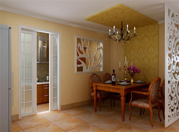 此方案的色彩以米黄色,巧克力色等中性色为主,配以同色系的壁纸,搭配起来和谐温馨。乡村风格素雅的色彩是让人钟爱的,而家具除在颜色上以白和木色为主。