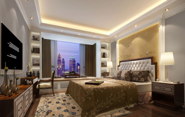 卧室图片来自刘成成在低调奢华欧式风的分享