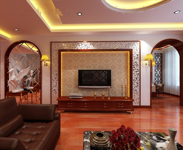 新中式风格电视背景墙设计