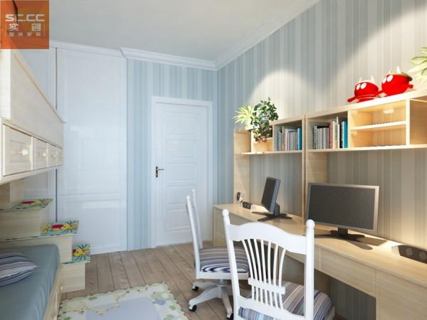 意风小区-132平米三居装修-儿童房效果图