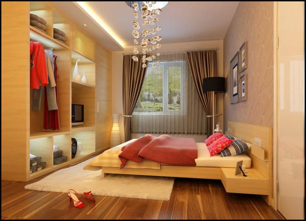 化繁为简,是把形式设计转入追求功能美学之上,将节省作为利用空间的最佳处理方式,使得功能与美观完美结合。卧室带有明显的现代感,与女主人的高贵气质完美融合,简洁易打扫