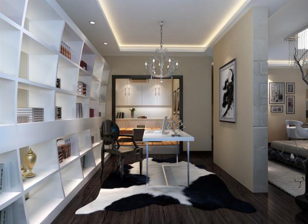 书房原始结构使用上基于客户多方面功能需求,对空间进行打撒空间整合,在分区上衣帽间与休息区结合,双入口的设计既方便使用,又相互不抵触,完美体现多空间个性的独我空间。