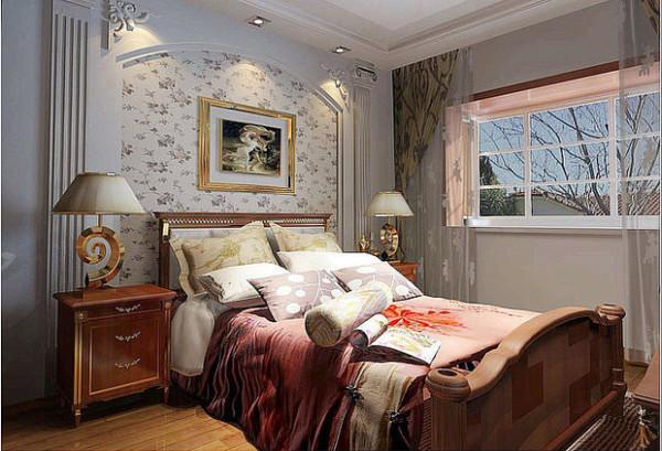蓝宝湾115平豪华欧式卧室及电视背景墙效果图