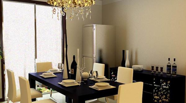 【武汉实创装饰】幸福时代/简单的装饰、温暖的色调-餐厅设计效果