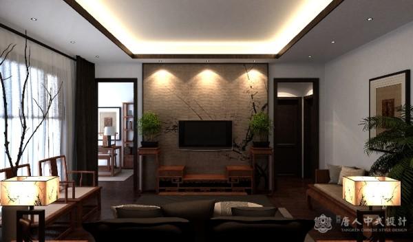 中式别墅客厅效果图