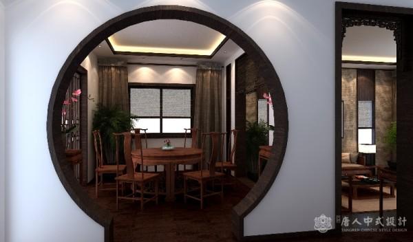 中式别墅餐厅效果图