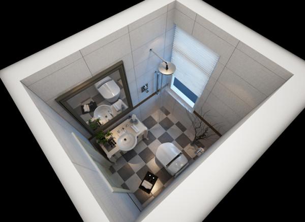 设计理念:智能马桶 显示客户高品位的生活 地砖采用灰白两色砖的拼接 简单有层次感 亮点:砖的拼接处理 卫浴的智能性 小空间也可以大体现